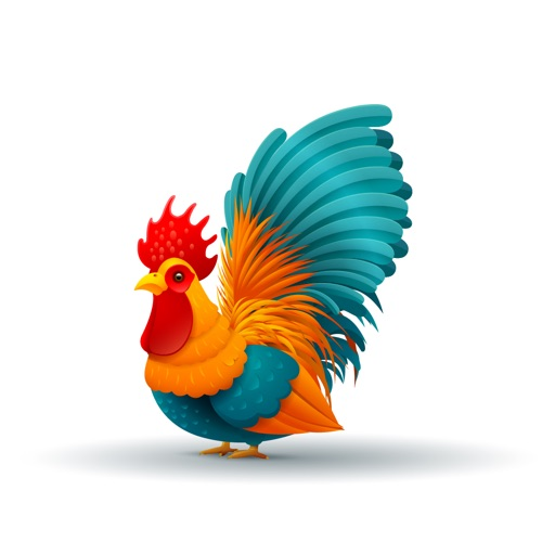 Funky Chicken Text Stickers
