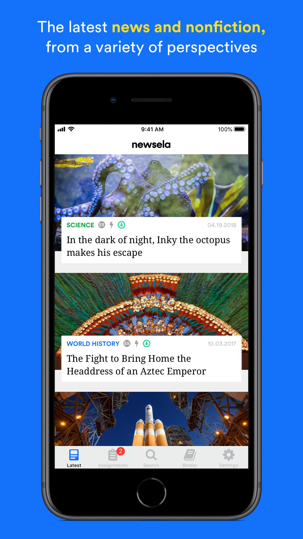 Newsela Student Screenshot