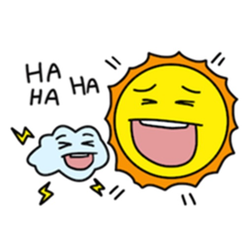 The Sun and Cloud Emoji Sticker