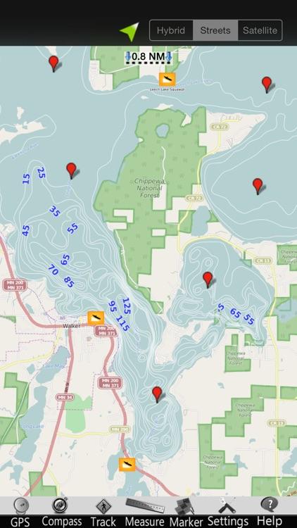 Leech Lake GPS Nautical Charts
