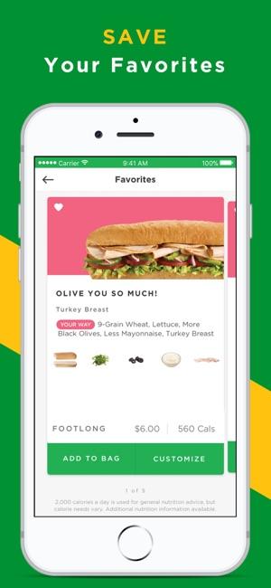 Subway coupons app