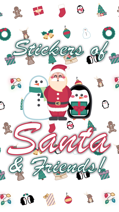 Santa & Friends Sticker Pack screenshot one
