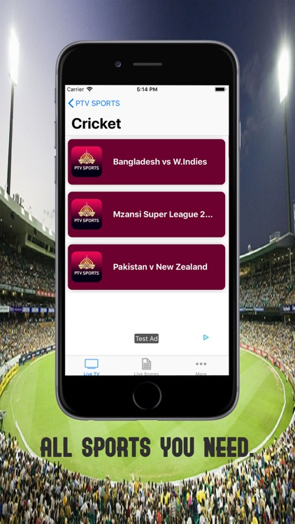 Live Ptv sports Tv by shahzad ahmed