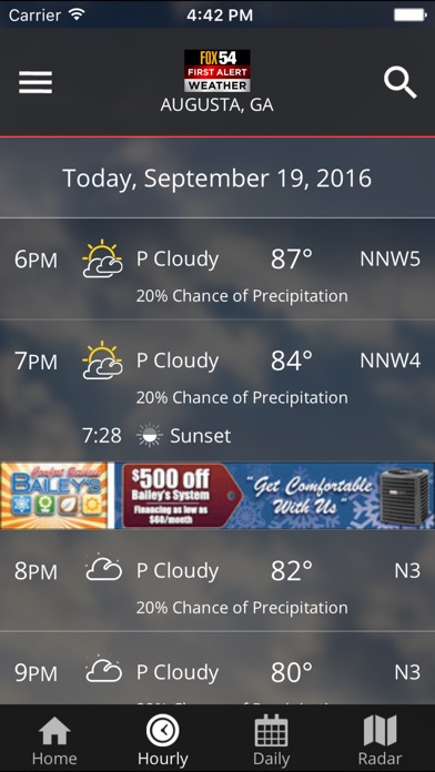 WFXG First Alert Weather for Windows