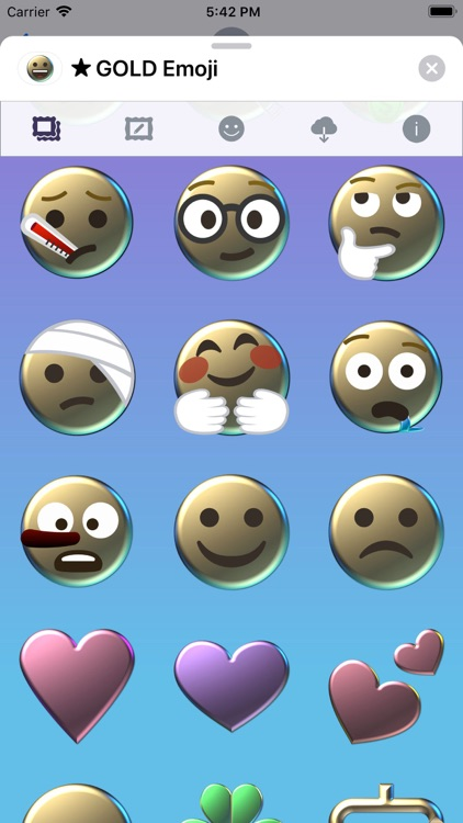 GOLD Emoji • Stickers screenshot-8