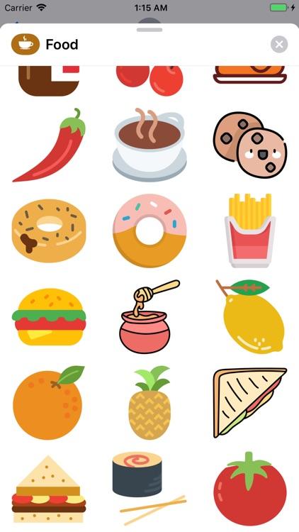 Food Stickers  ملصقات الأكل