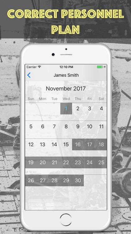 Shift Calendar for Oilfield