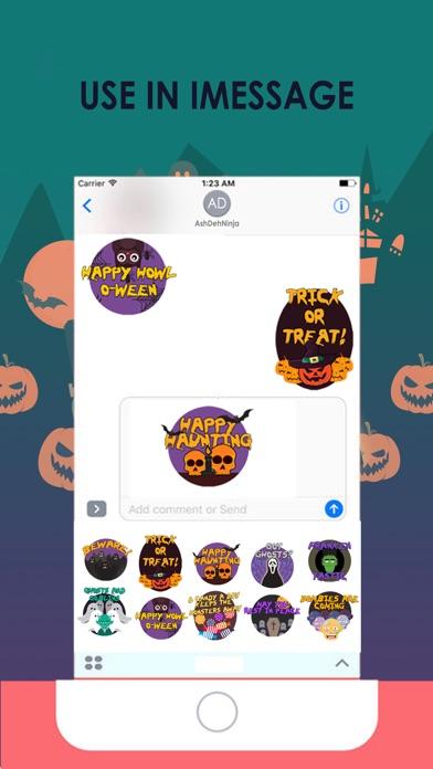 Scary HalloweenMoji Stickers screenshot 3