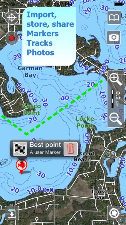 Aqua Map Iowa Lakes GPS HD screenshot-3
