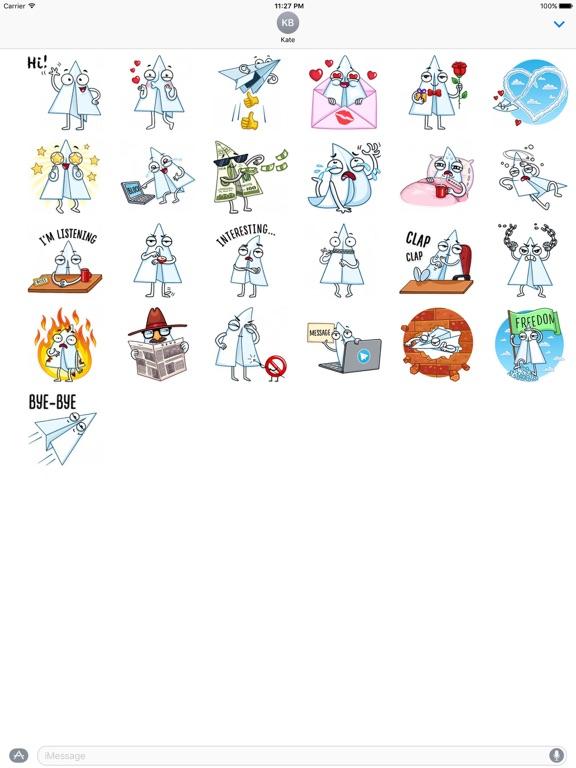 Paper Airplane Emoji Sticker screenshot 3