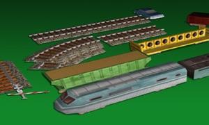 Model Railroad Set