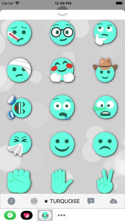 TURQUOISE Emoji • Stickers screenshot-4