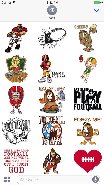 Fun American Football Stickers