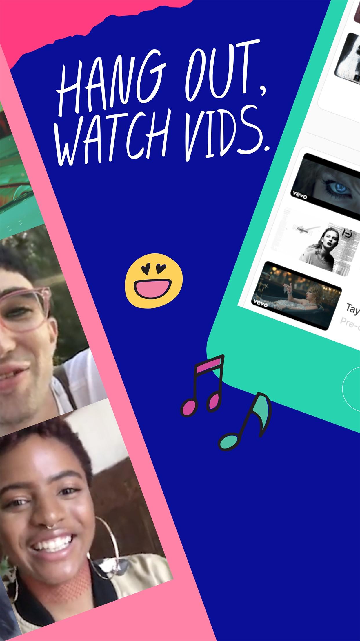 Airtime: Hang out. Watch vids. Screenshot