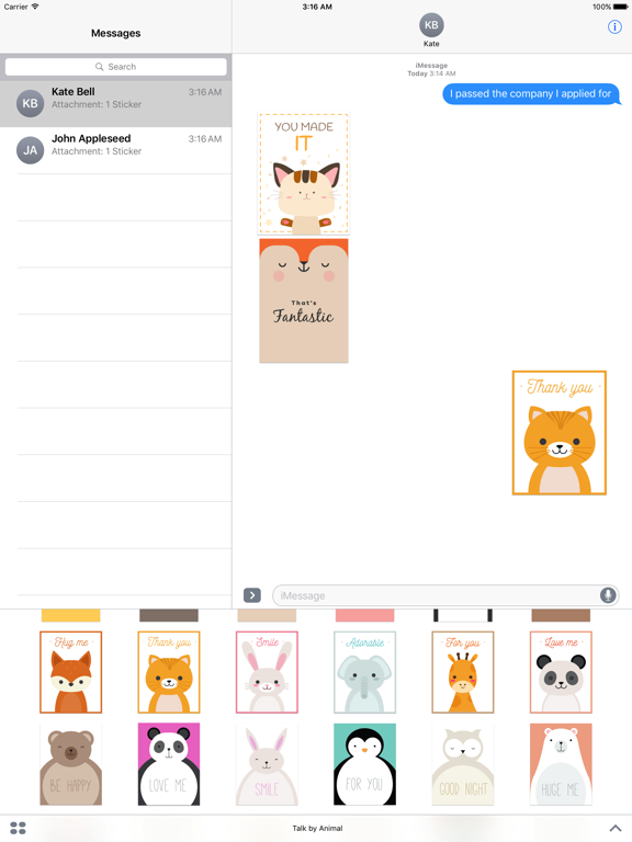 Happy Talk by Cute & Lovely Animal Characters screenshot 7