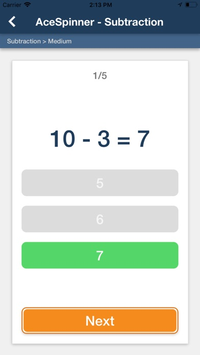 Ace Spinner Math Games screenshot 5