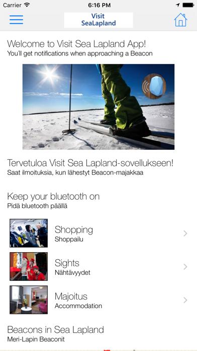 Visit Sea Lapland app screenshot two