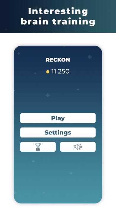 Reckon - brain training screenshot 1