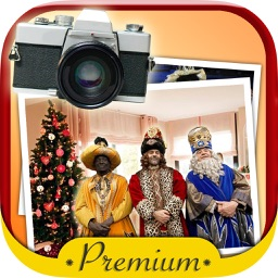 Your photo with the three wise men Premium