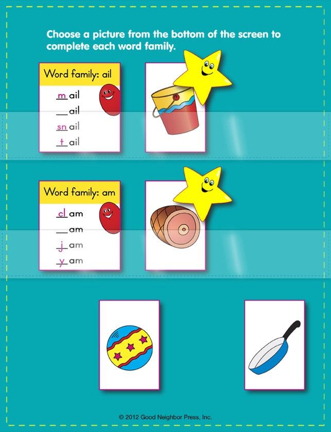 pocket charts word families on the app store