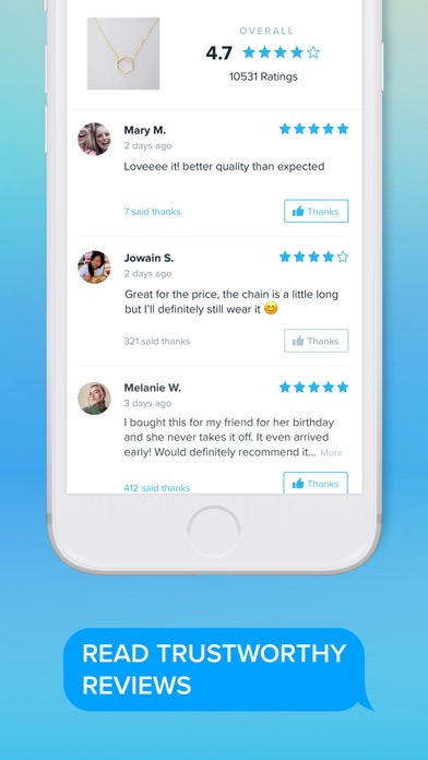 Screenshot of Wish - Shopping Made Fun App
