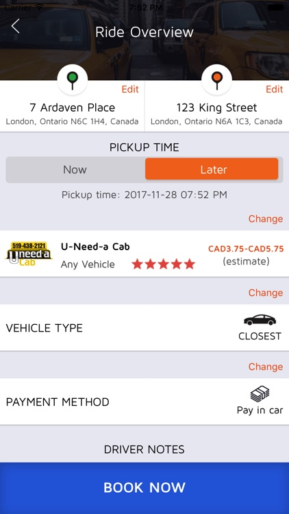 U-Need-A Cab screenshot-3