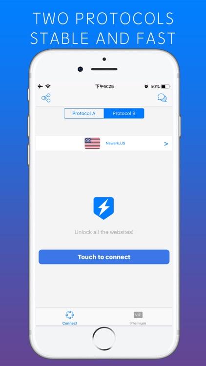 Lightning VPN - Security Proxy screenshot-3