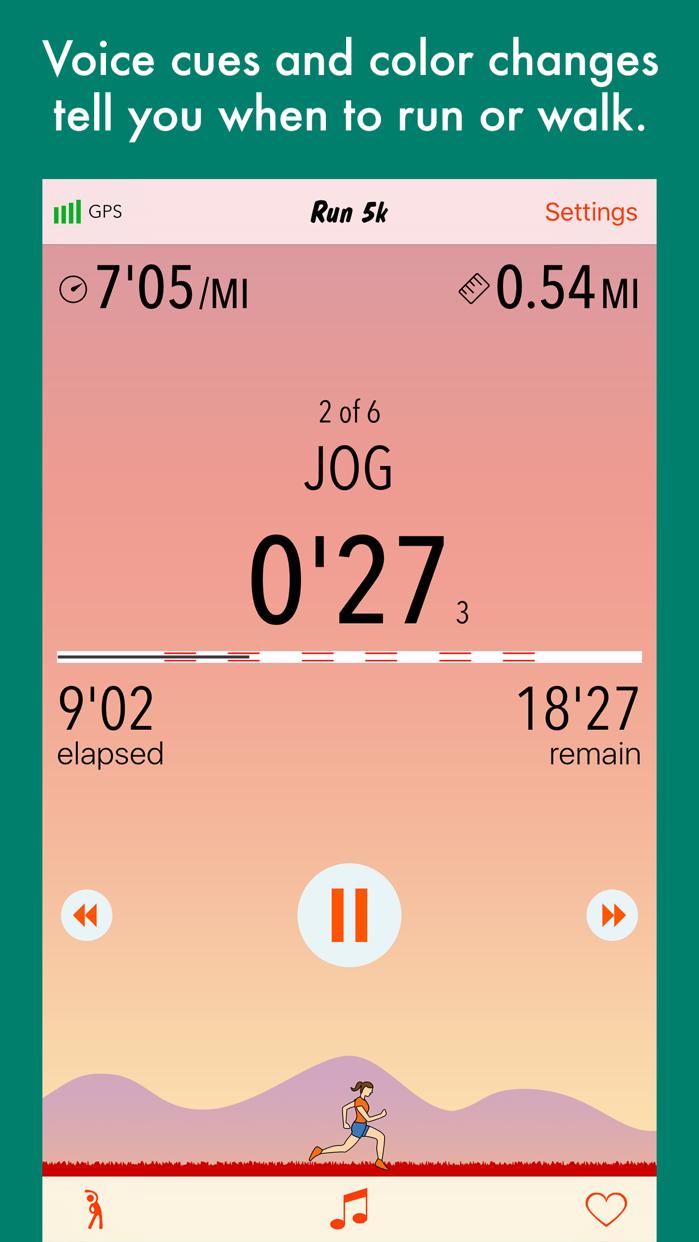 Run 5k - couch to 5k program Screenshot