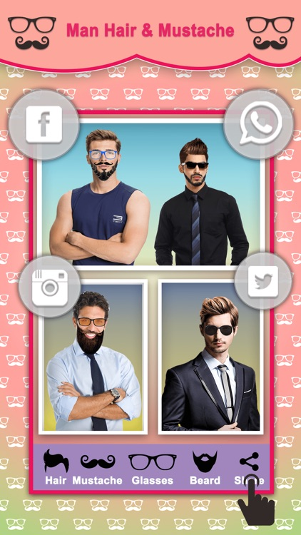 Men Hair Style Mustache Photo Editor screenshot-4
