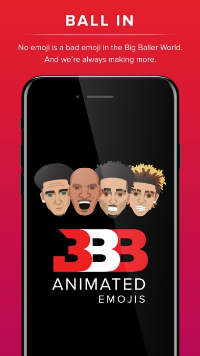 Screenshot of Big Baller Brand Emojis App