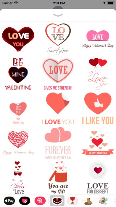 Love Message - Flat Stickers screenshot 1