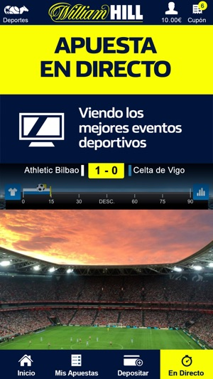 William Hill Apuestas online Screenshot