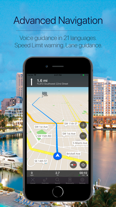 Florida, US Offline Navigation Screenshot