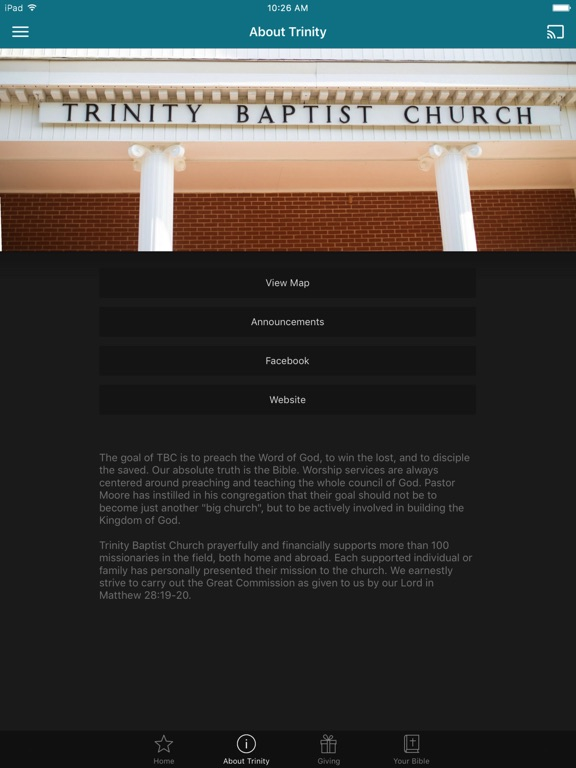 Trinity Baptist Church GA screenshot 5