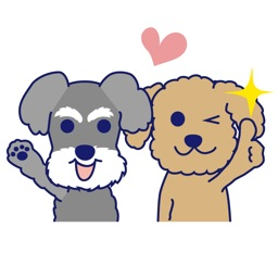 Schnauzer and Toypoodle Stickers