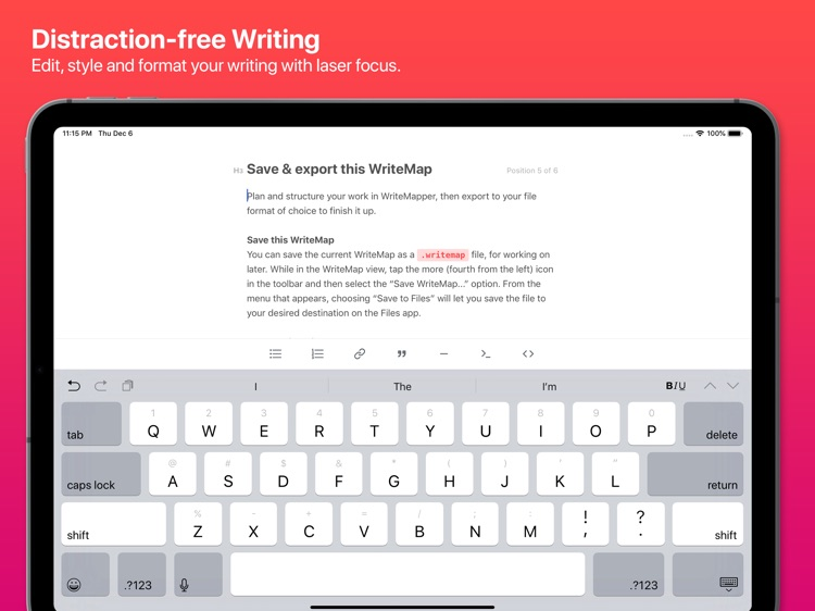 WriteMapper 2: Mind Map (iPad) screenshot-3
