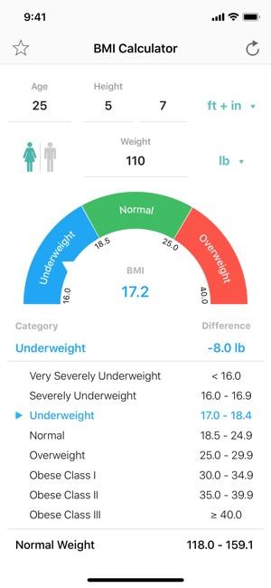 BMI Calculator – Pro