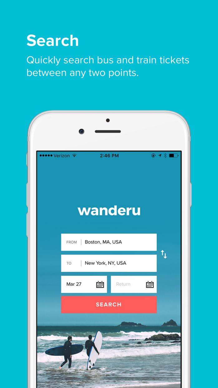 Wanderu Screenshot