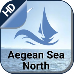 Aegean Sea North offline nautical fishing charts