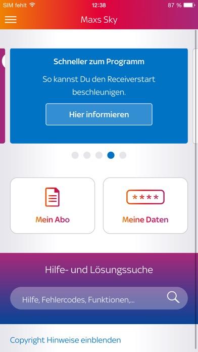 Screenshot for Mein Sky in Germany App Store