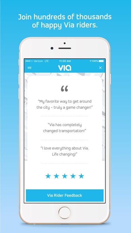 Via - Affordable Ride-sharing screenshot-4