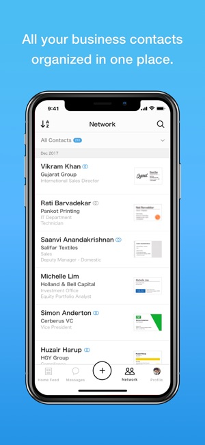 Eight manage business cards on the app store iphone screenshots colourmoves