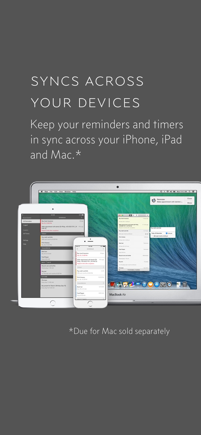 Due - Reminders & Timers Screenshot