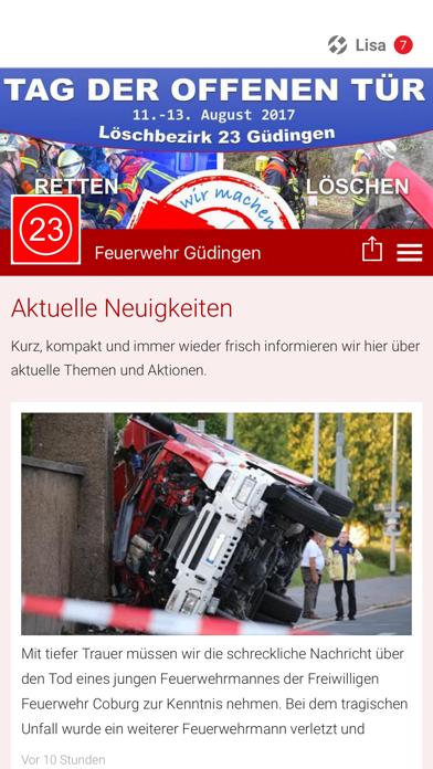 Feuerwehr Güdingen screenshot one