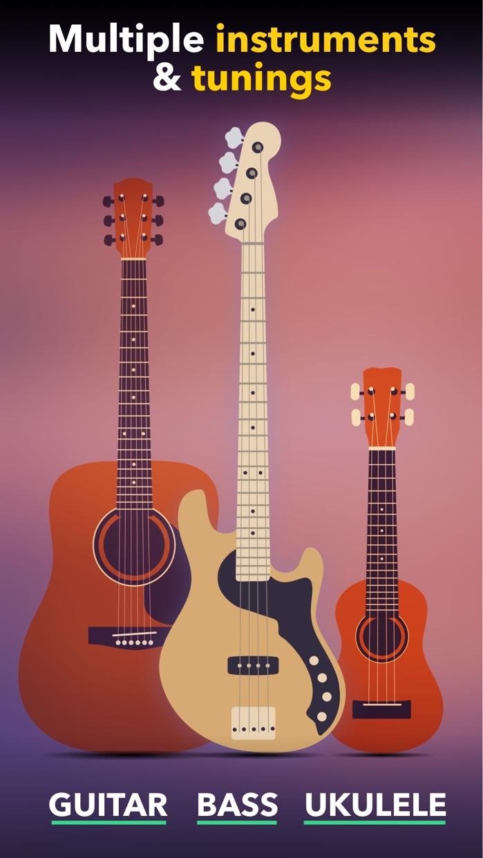 Guitar Tuner Easy tune chords Screenshot