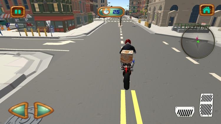 City Pizza Delivery Bike Rider screenshot-4