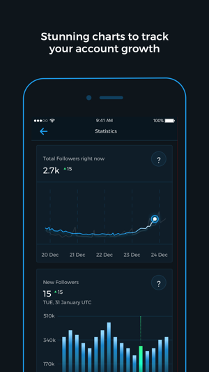 Reports+ for Instagram Screenshot