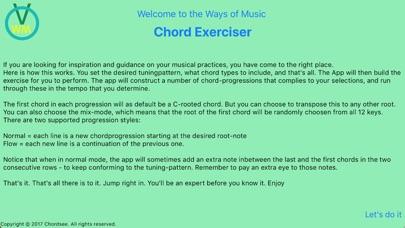 Chord Exerciser - App - iOS me