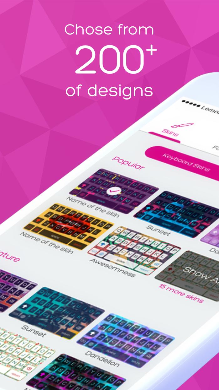 Keyboard Skins for iPhone Screenshot