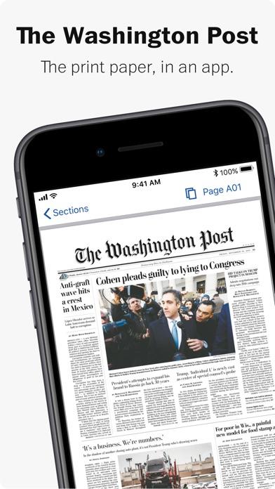 Washington Post Print Edition review screenshots